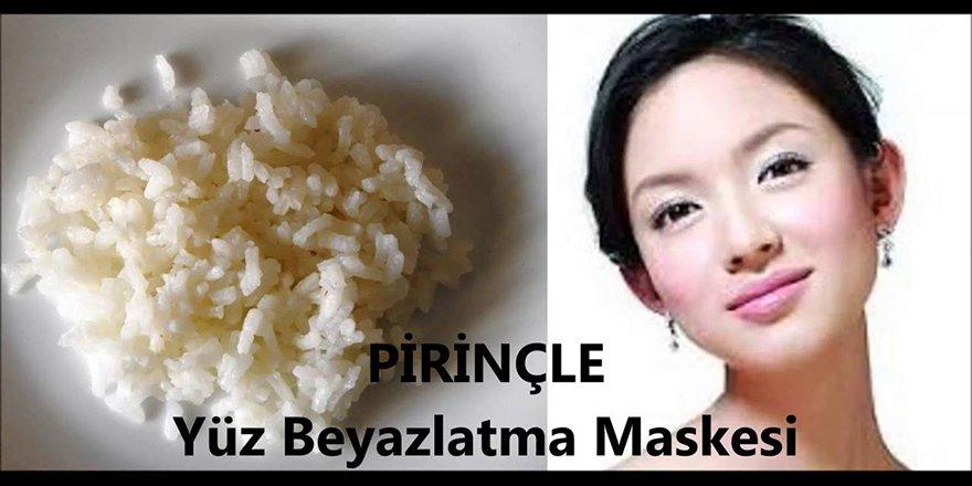 Doğal Yüz Beyazlatma- Ev yapımı pirinç kremi