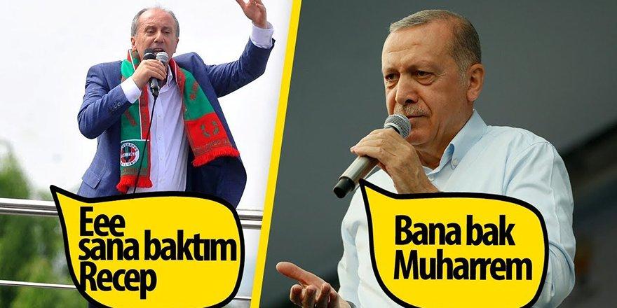 Muharrem İnce - Erdoğan Atışması - Mitingde Komik Anlar