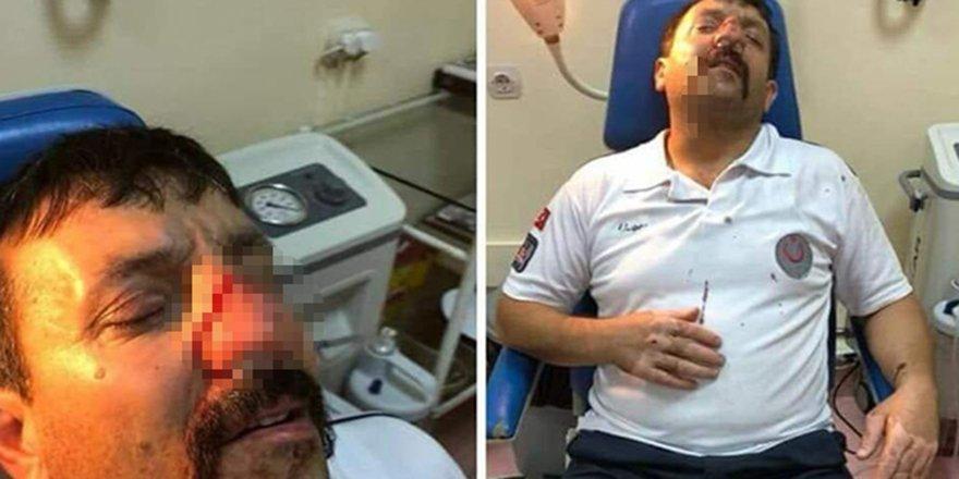 İstanbul'da ambulans şoförünün darp edilme anı kamerada