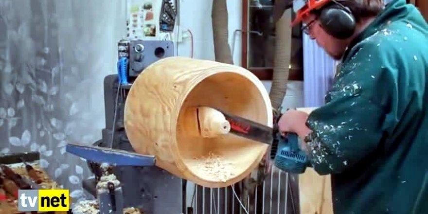 Kocaman ağaç kütüğünden abajur yapmak