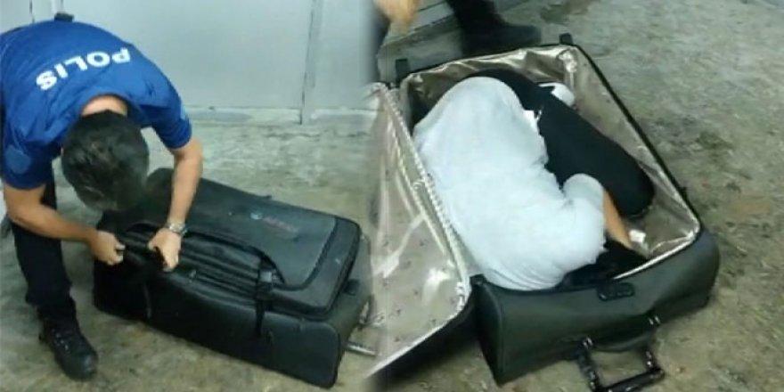 Valizden çıkan polisi şok etti