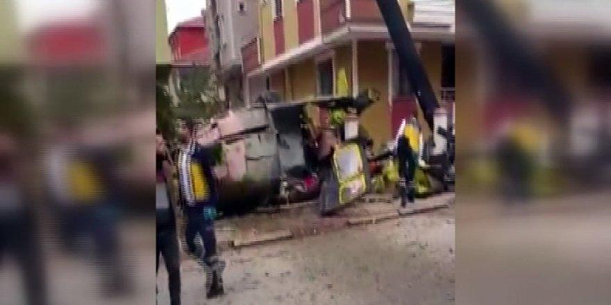 Sancaktepe'de helikopter düştü!