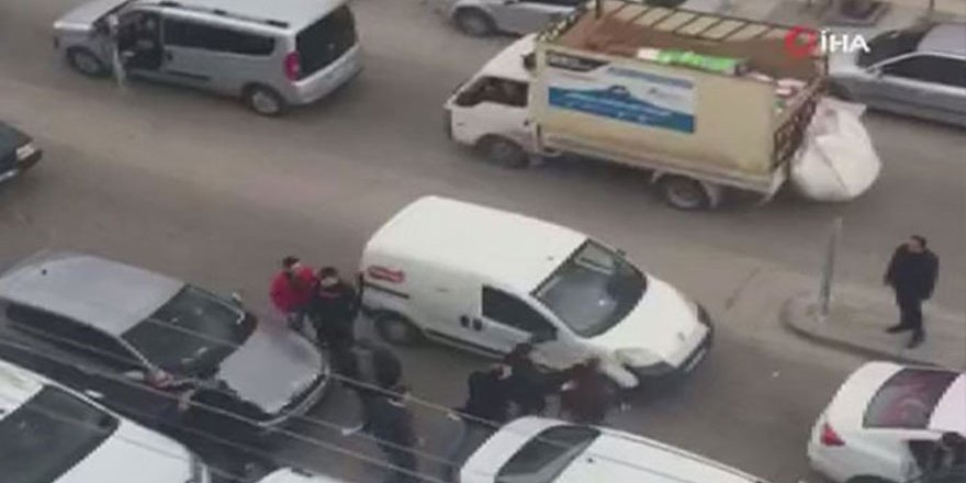 Sincan'da sürücülerin korna tartışması meydan savaşına döndü