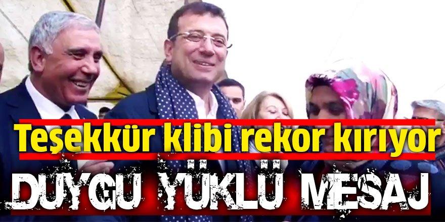 Ekrem İmamoğlu'ndan paylaşım rekoru kıran duygusal klip