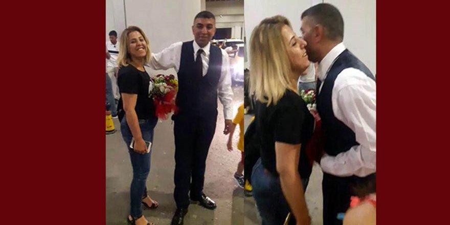 Cani koca eşini öldürmeden önce havalimanından çiçeklerle karşılamış
