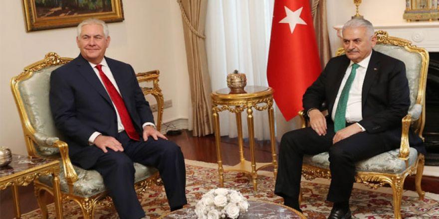 Başbakan Yıldırım, ABD Dışişleri Bakanını kabul etti
