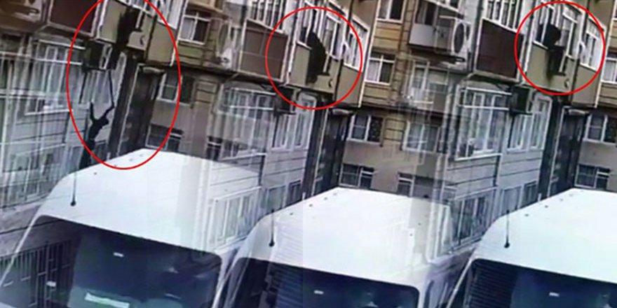 Örümcek adamı aratmayan hırsız önce kameraya sonra polise yakalandı