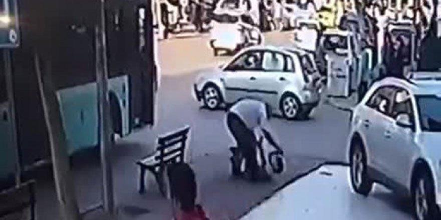 Otobüs şoföründen patenli çocuğa şiddet
