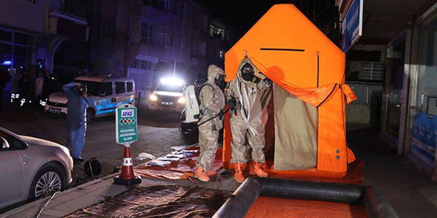 Aksaray'da bir evde kimyasal madde alarmı
