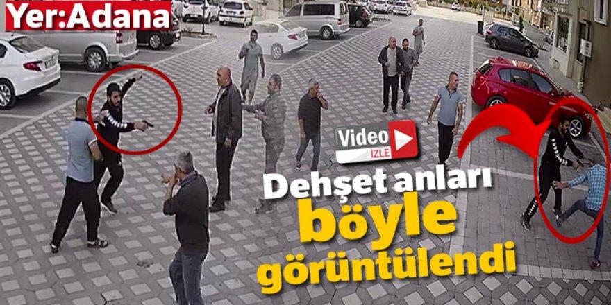 Dehşet anları kamerada: Apartman sakini kapıcıyı vurdu