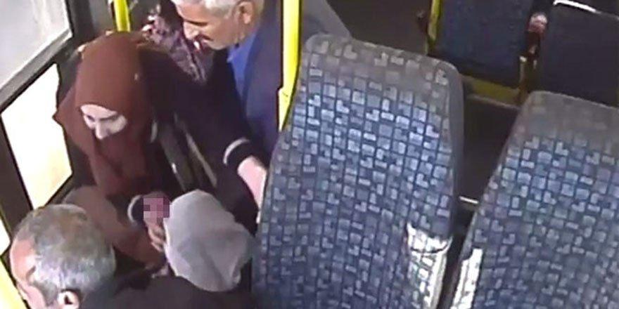 Minibüsün ani freni kalsın faciaya neden oluyordu.