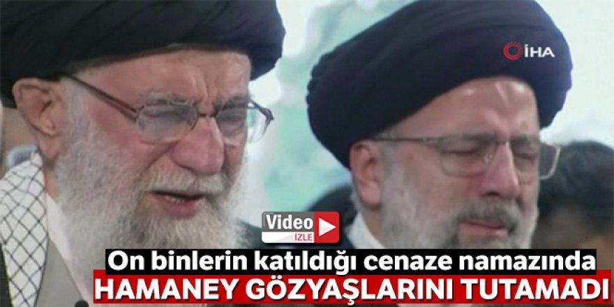 Hamaney, Süleymani'nin cenaze namazında gözyaşlarını tutamadı!