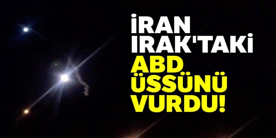 İran, Irak'taki ABD üssünü vurdu!