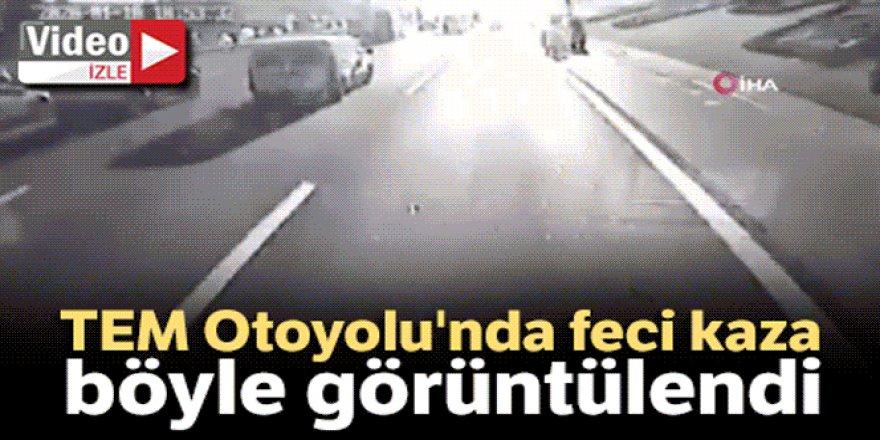 İki kişinin öldüğü feci kaza kamerada