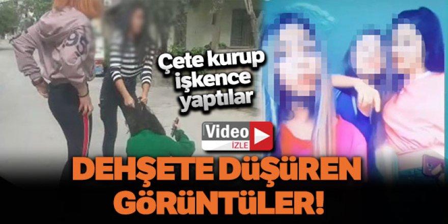 Kız çocukları çete kurdu, kan donduran görüntüler