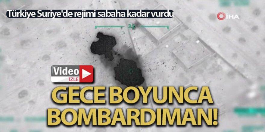 Türkiye Suriye'de rejimi sabaha kadar vurdu