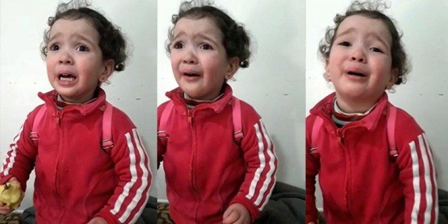Küçük kızın korku dolu anları kamerada!