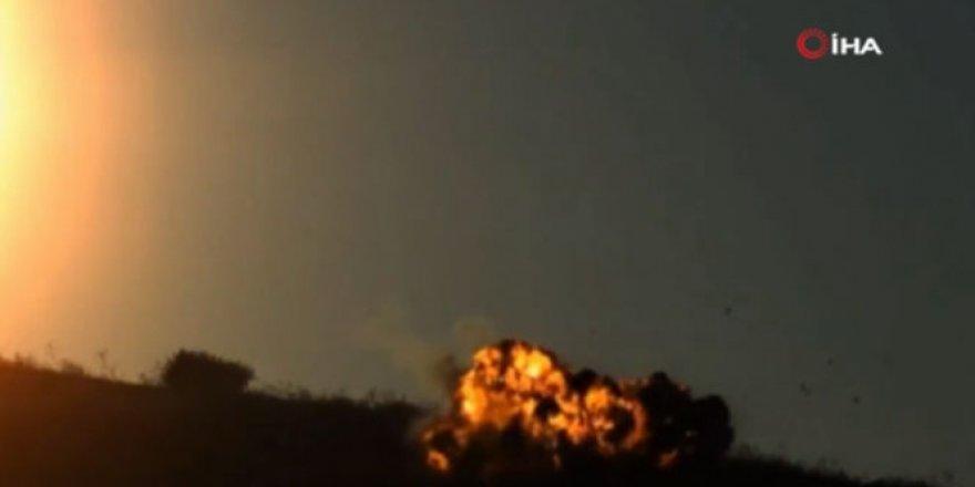 Yerli üretim roket'in imha görüntüleri!