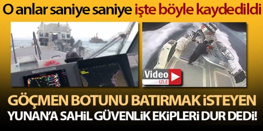 Sahil Güvenlik Yunan botu böyle kovalandı