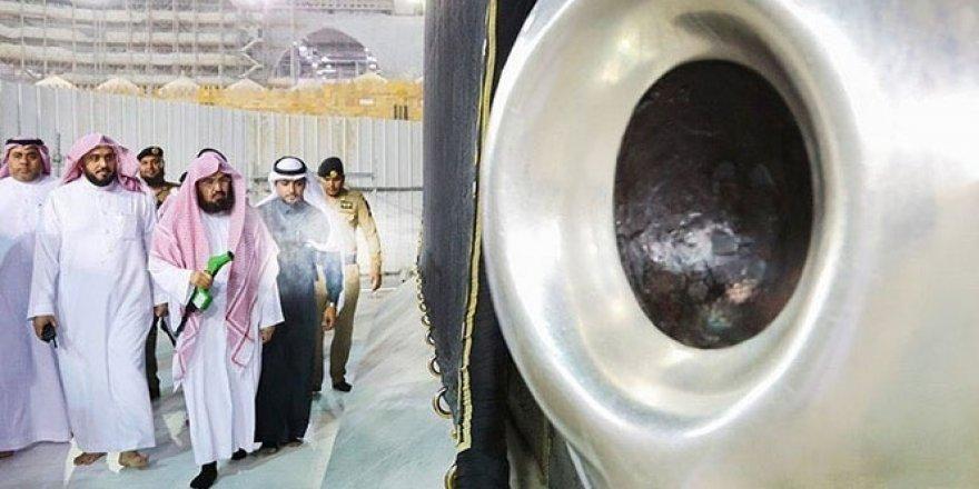 Kabe'de korona virüsüne karşı sterilizasyon yapıldı
