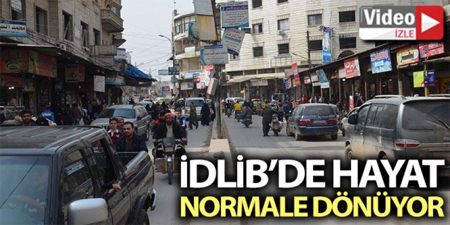 İdlib'te hayat normale dönüyor