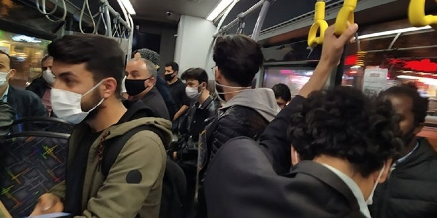 Halk otobüslerinde sıfır sosyal mesafe