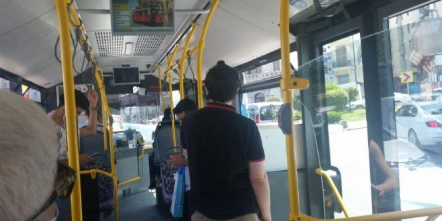 """Otobüste maske tartışması! """"Maske aksesuar değil"""""""