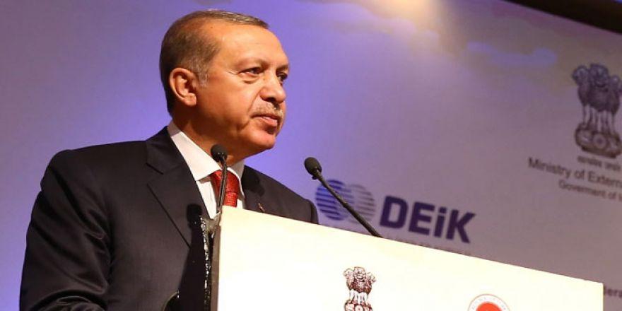 Erdoğan Hindistan'da konuştu