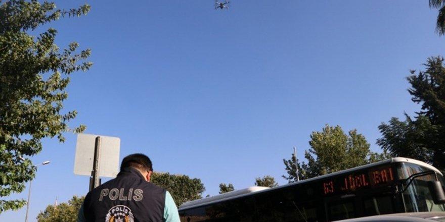Maske takmayanlara drone denetimi
