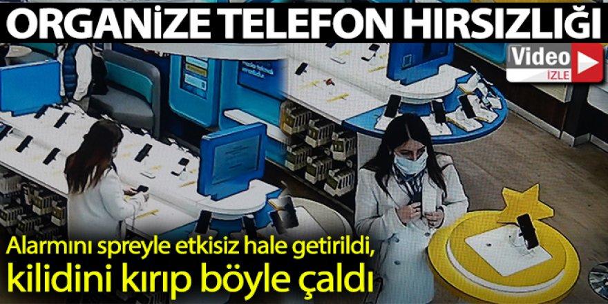 Organize telefon hırsızlığı kamerada