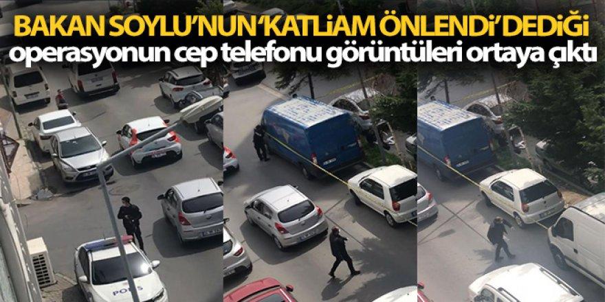 """Bakan Soylu'nun """"Katliam önlendi"""" dediği operasyonun görüntüleri ortaya çıktı"""