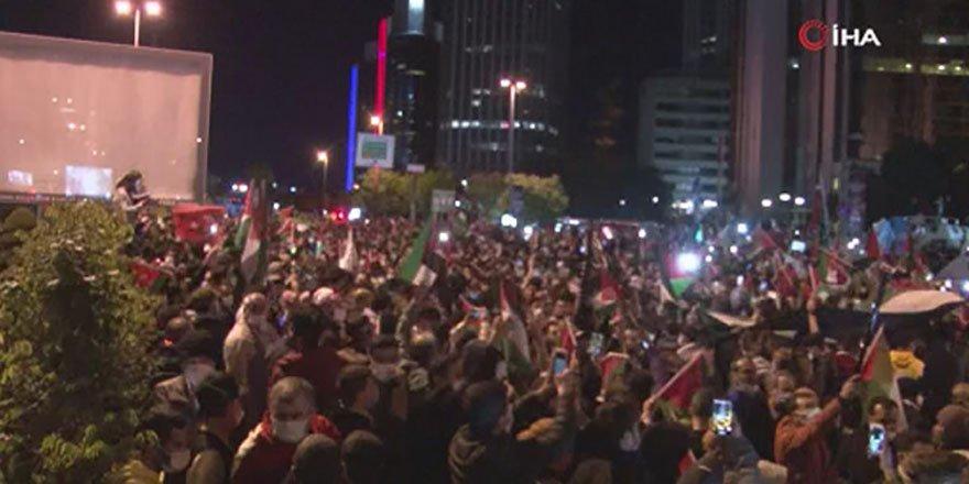 Yurdun dört bir yanı İsrail'i protesto etmek için ayaklandı!