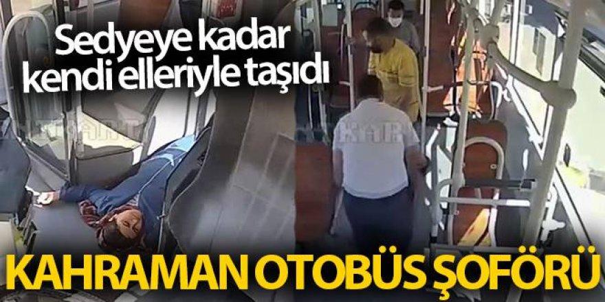 Otobüs şoförü hayat kurtardı!