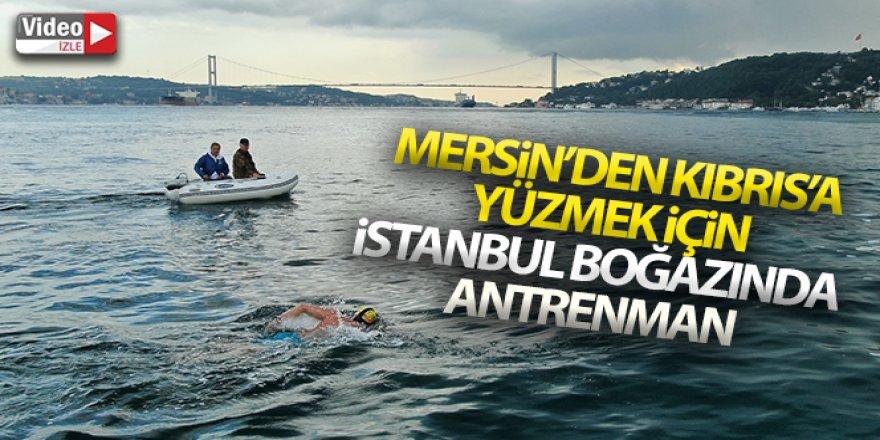 Mersin'den Kıbrıs'a yüzmek için İstanbul Boğazında antrenman