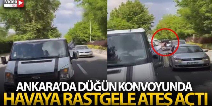 Ankara'da düğün konvoyunda havaya rastgele ateş açtı