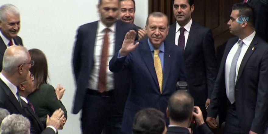 Cumhurbaşkanı Erdoğan, büyük bir coşkuyla karşılandı