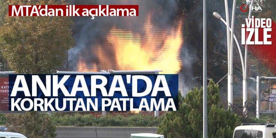 Ankara'da MTA Kampüsü yakınında doğalgaz patlaması
