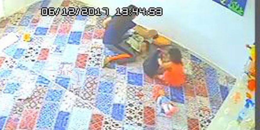 1 yaşındaki çocuğa kreşte bakıcı dayağı