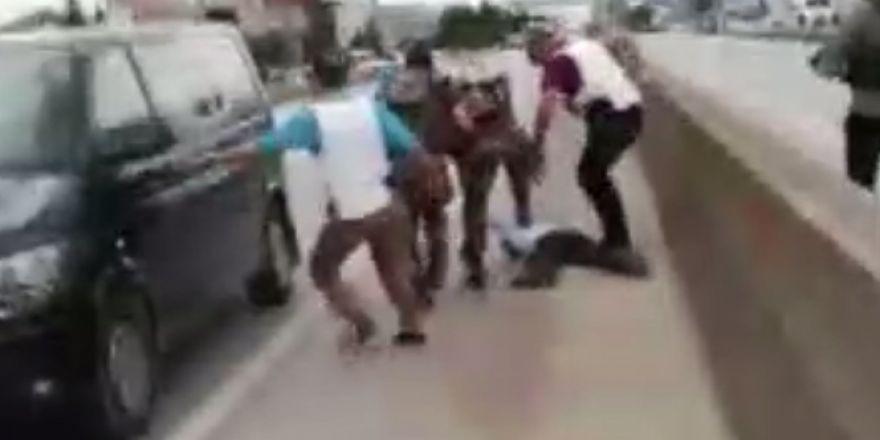 CHP'nin yürüyüşüne DEAŞ'lının yakalanma anı kameraya yansıdı