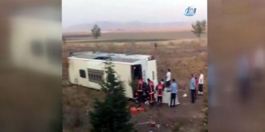 Başkentte yolcu otobüsü şarampole uçtu! Ölü ve yaralılar var...