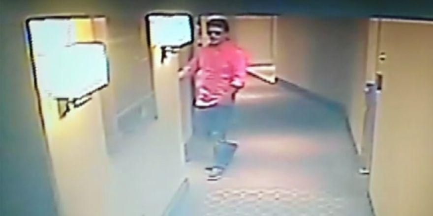 Vatan Şaşmaz'ın otel ve odaya giriş görüntüsü