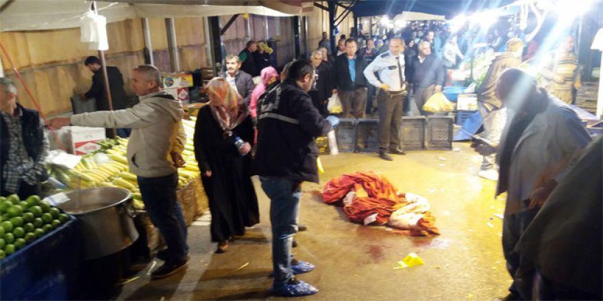 Emekli polis memuru mandalina yüzünden 2 pazarcıya kurşun yağdırdı