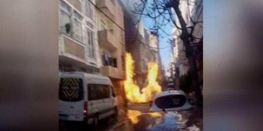 Sefaköy'de doğalgaz patlaması